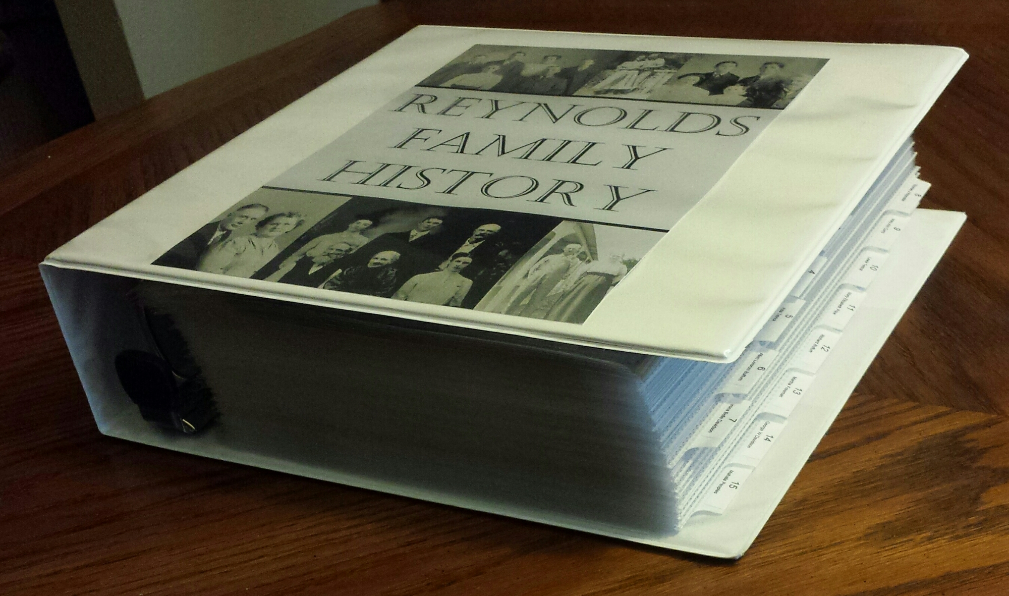 how to put together a family history book